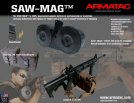 AR-15 ARMATAC 150 ROUND SAW MAG DRUM MAGAZINE .223 5.56