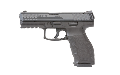 "HK VP9 9MM 4.09"" 10RD BL 2 MAGS"