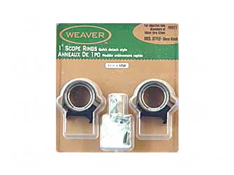 "WEAVER TOP MOUNT RNGS 1"" MED"